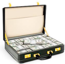 vklad чемодан с деньгами депозит