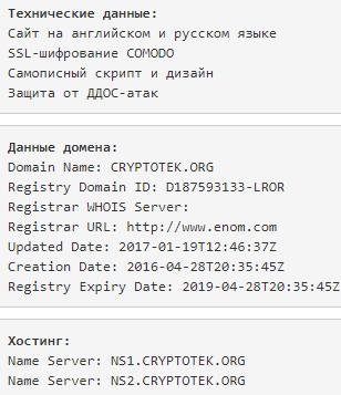 Технический анализ проекта CRYPTOTEK | Авторский блог Евгена по инвестициям: https://evgen3790.ru/